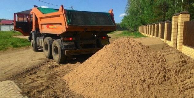 Доставка песка Рузский район выгодная цена
